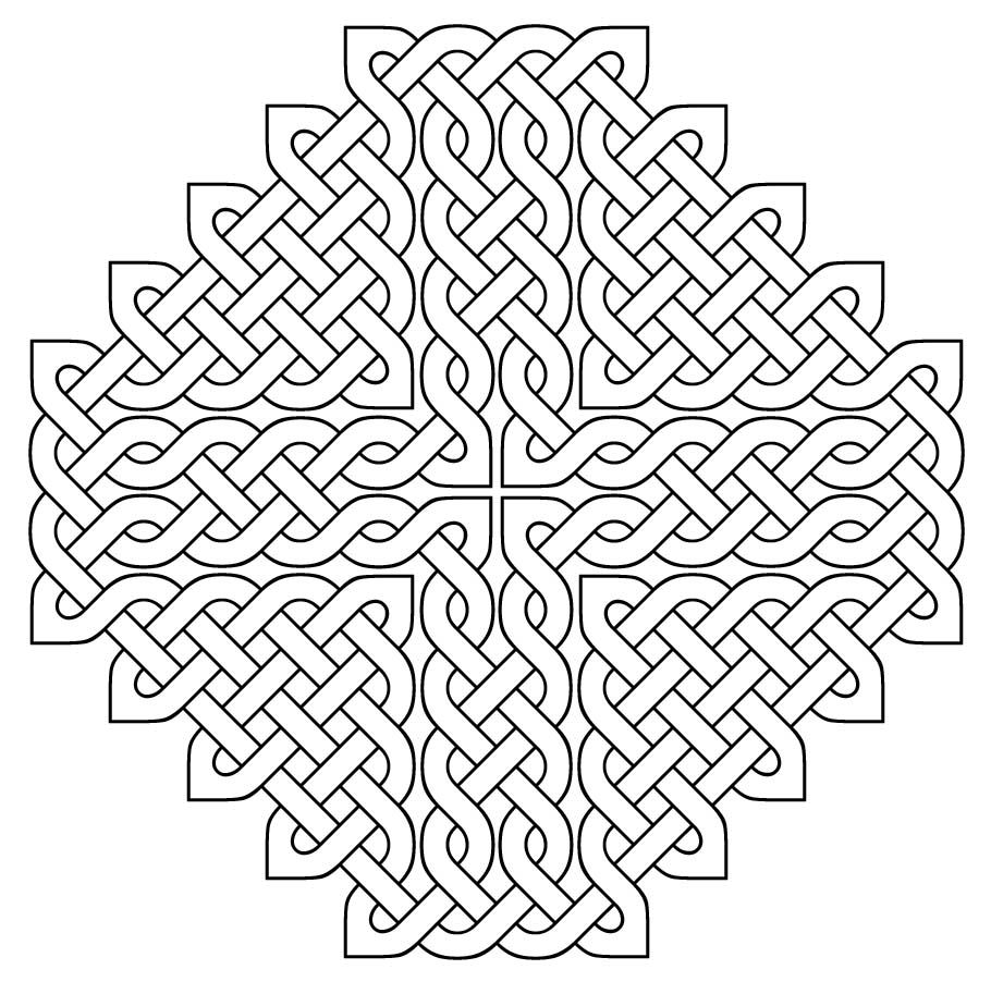 Celtic Cross Design for Coloring