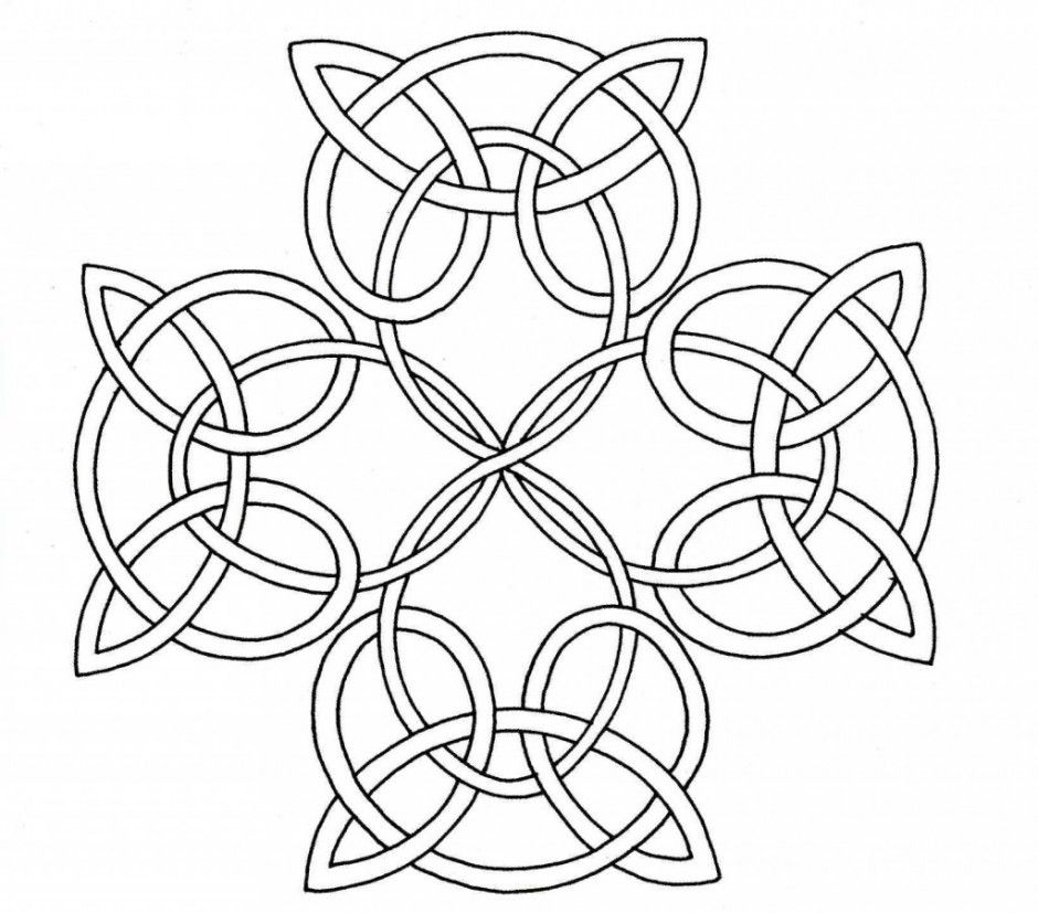 Celtic Cross Printable Coloring Page