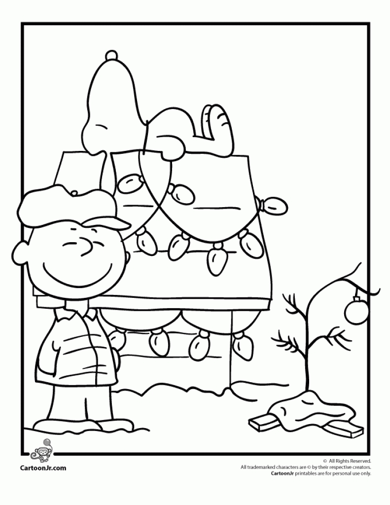 Charlie Brown Christmas Coloring Pages Coloring Rocks