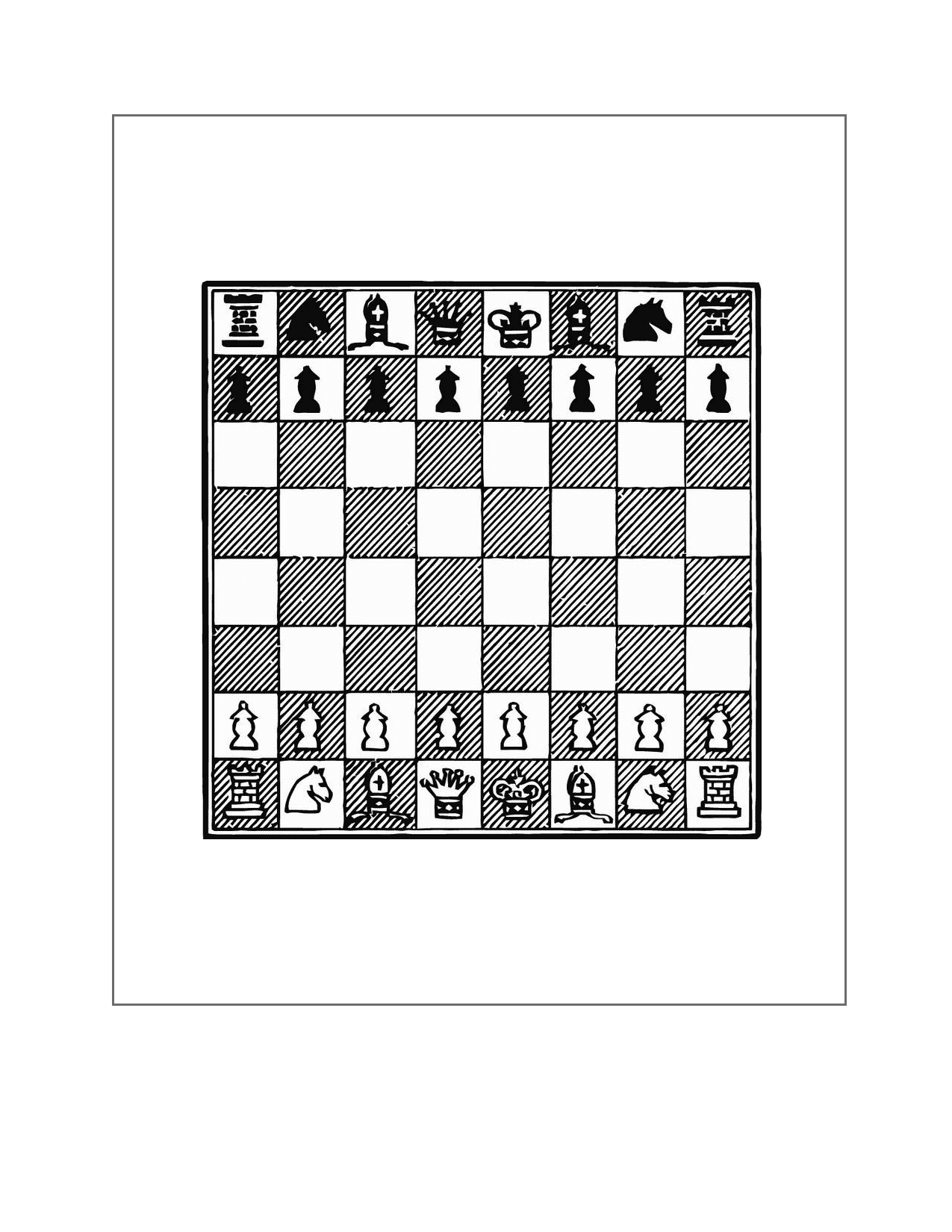 Chess Board Printable Page
