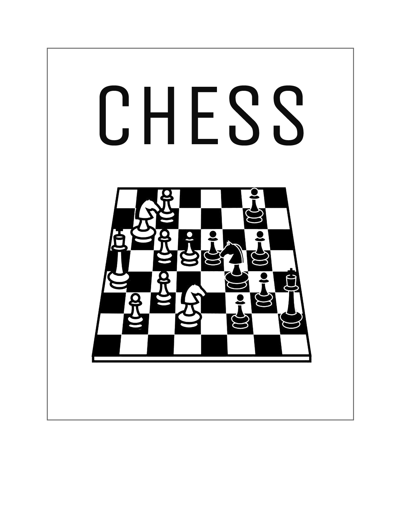 Chess Board Printable Sheet