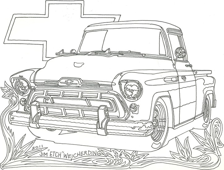 Chevy Truck - Car Coloring Pages