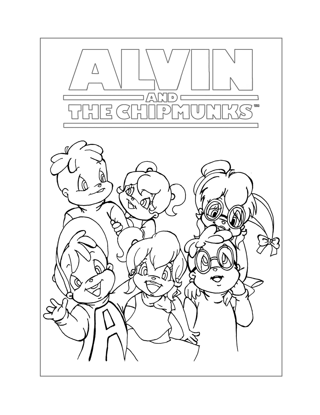 Chipmunks And Chipettes Coloring Page