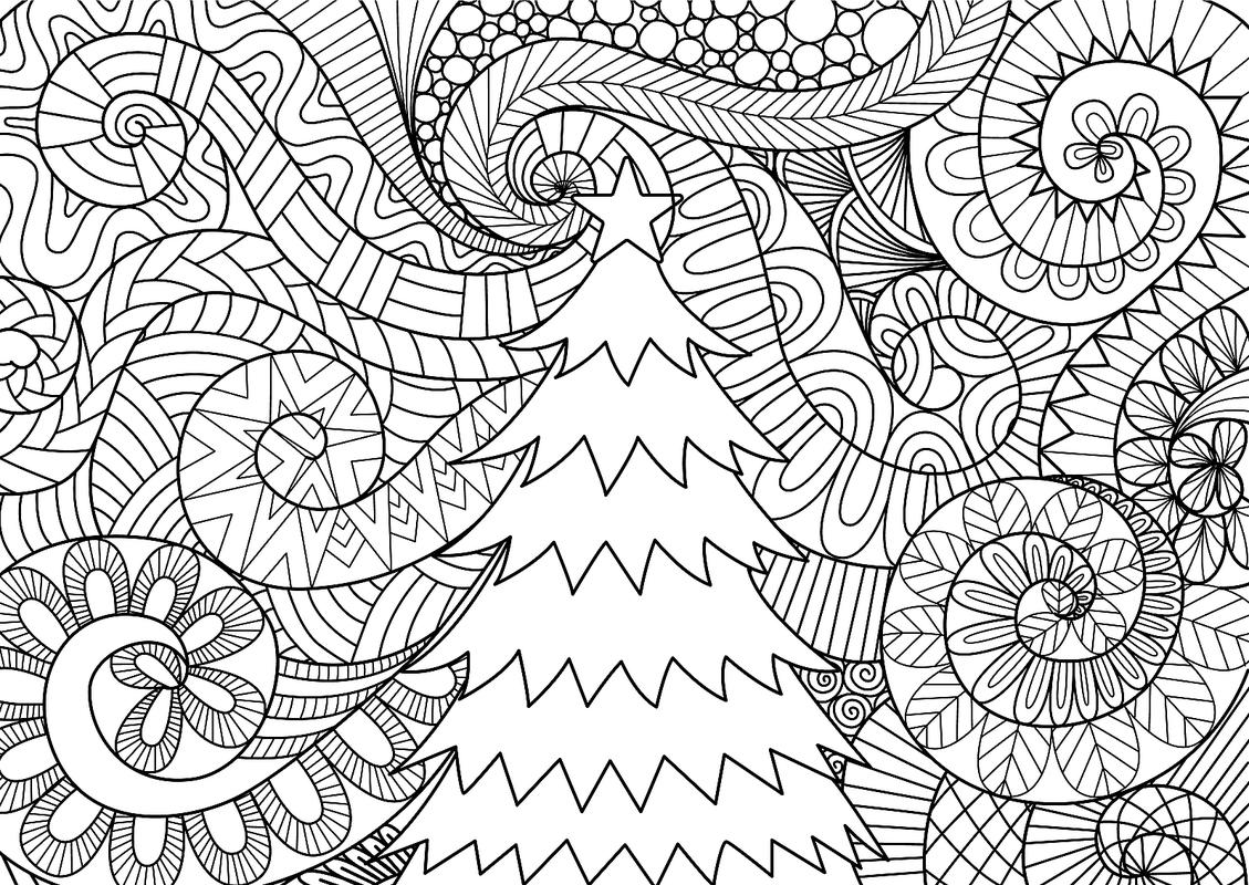 This is a graphic of Free Printable Christmas Coloring Pages for Adults with regard to pinterest