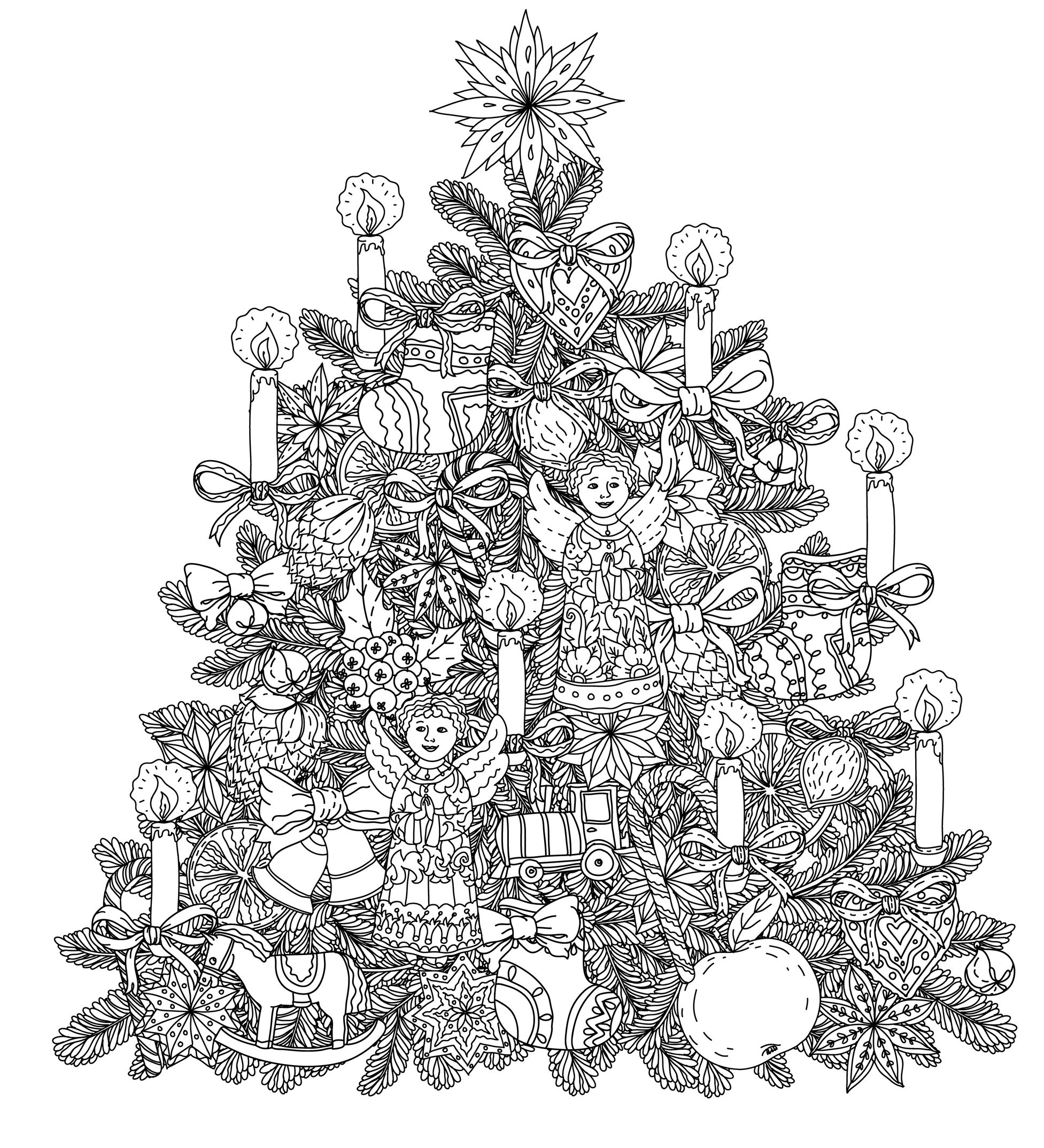 Christmas Coloring Pages - Christmas Tree Decorations
