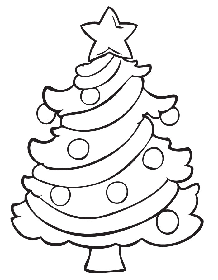 Christmas Coloring Pages - Christmas Tree