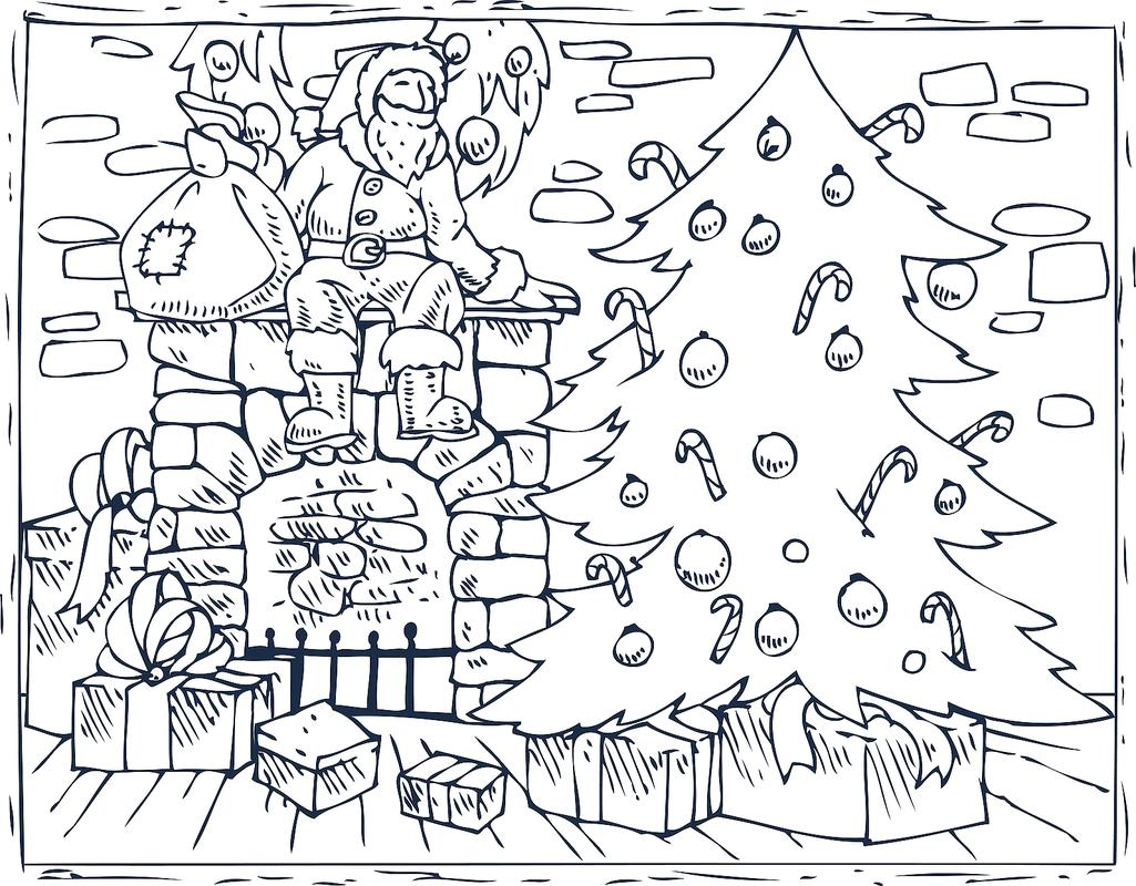 Christmas Coloring Pages - Decorations