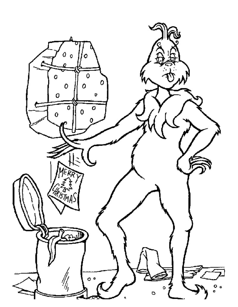 Christmas Coloring Pages - Grinch