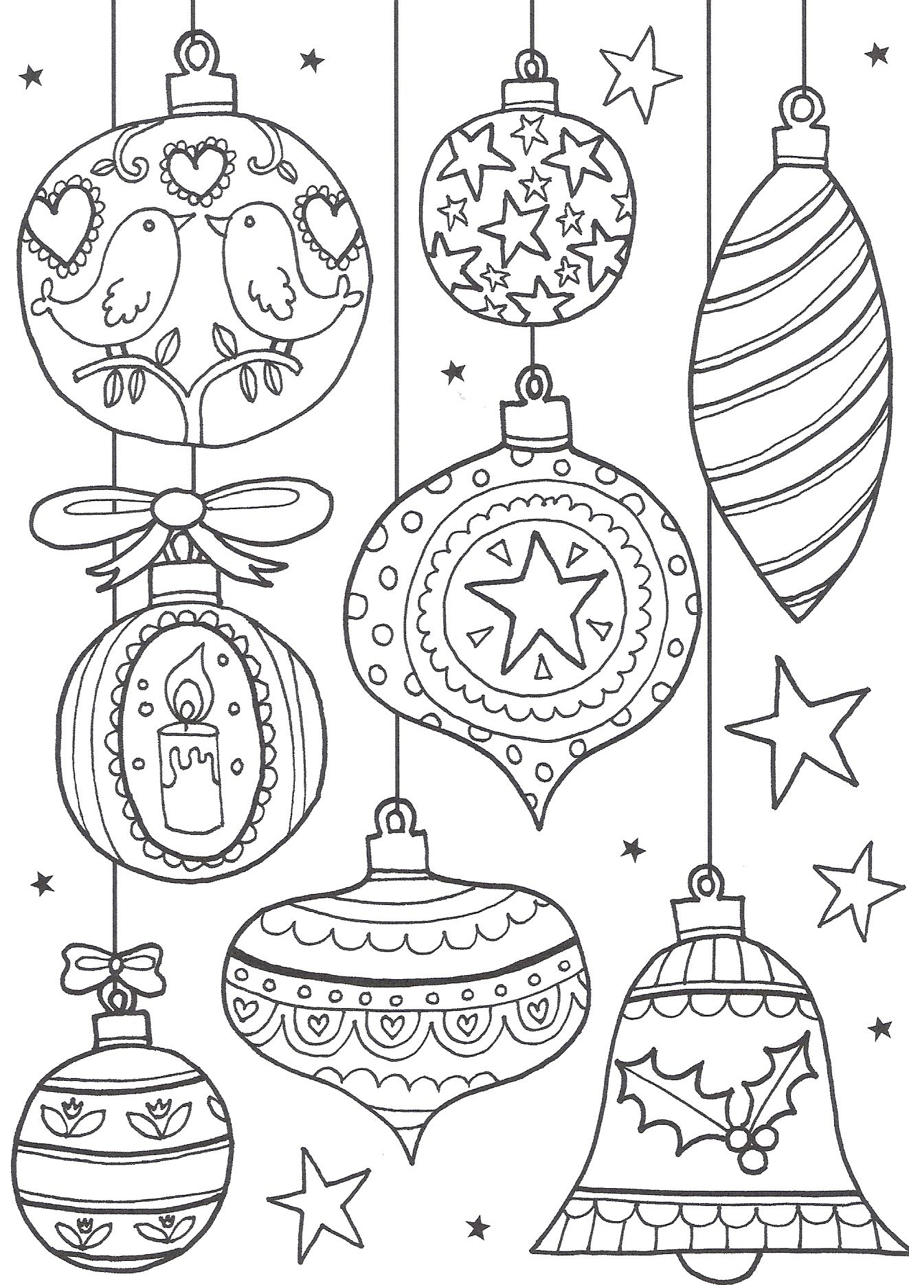 Christmas Coloring Pages - Ornaments