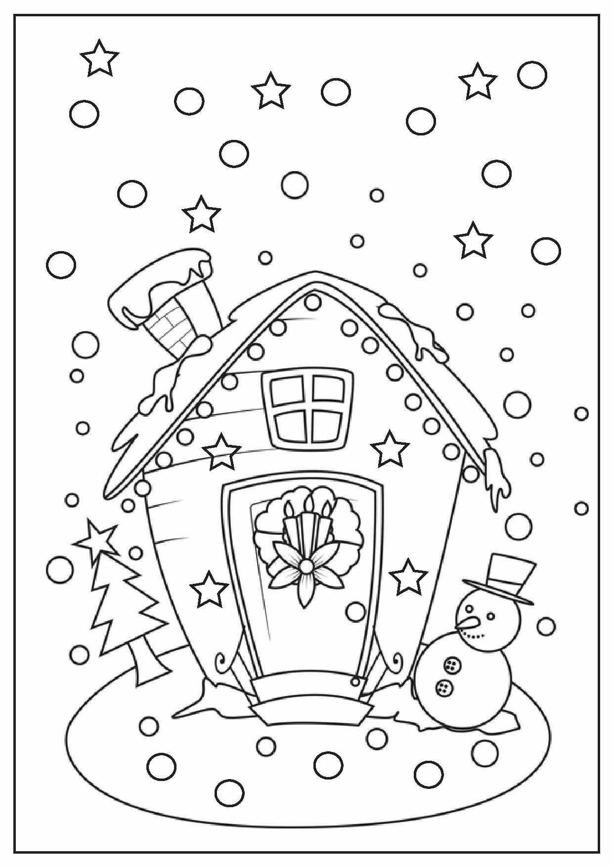 Christmas Coloring Pages Printable Scene