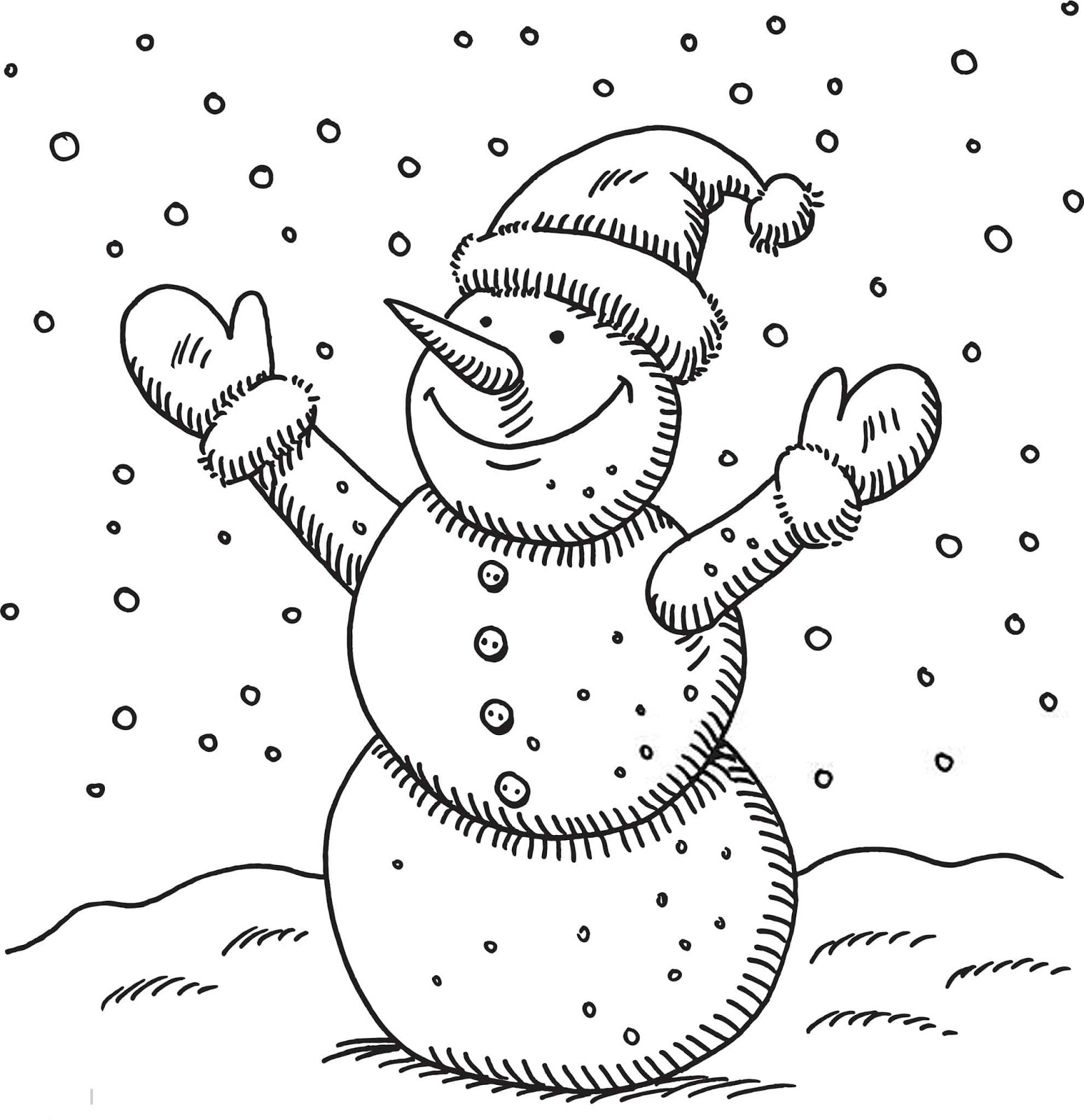 Christmas Coloring Pages - Snowman