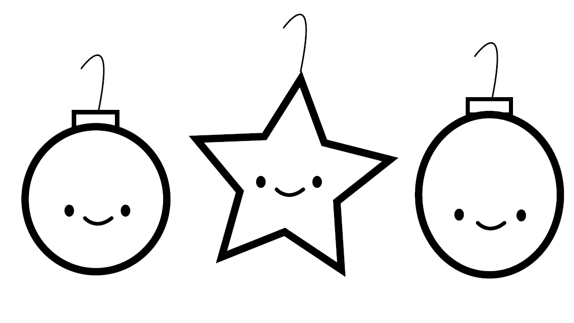 Christmas Coloring Pages for Preschoolers - Ornaments