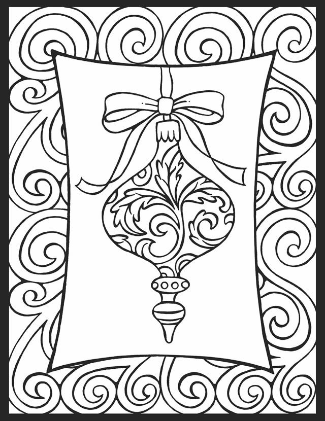 Christmas Ornaments Coloring Pages – coloring.rocks!