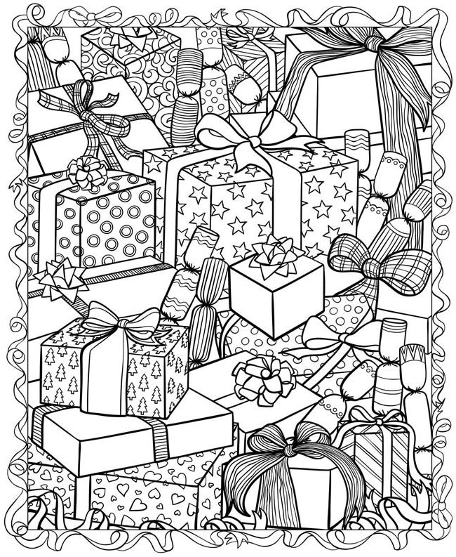 Christmas Coloring Pages for Adults | Coloring pages winter, Christmas  coloring pages, Coloring pages | 793x650