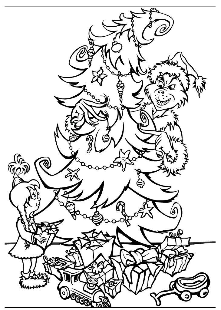 Grinch Coloring Pages - GetColoringPages.com | 1024x730