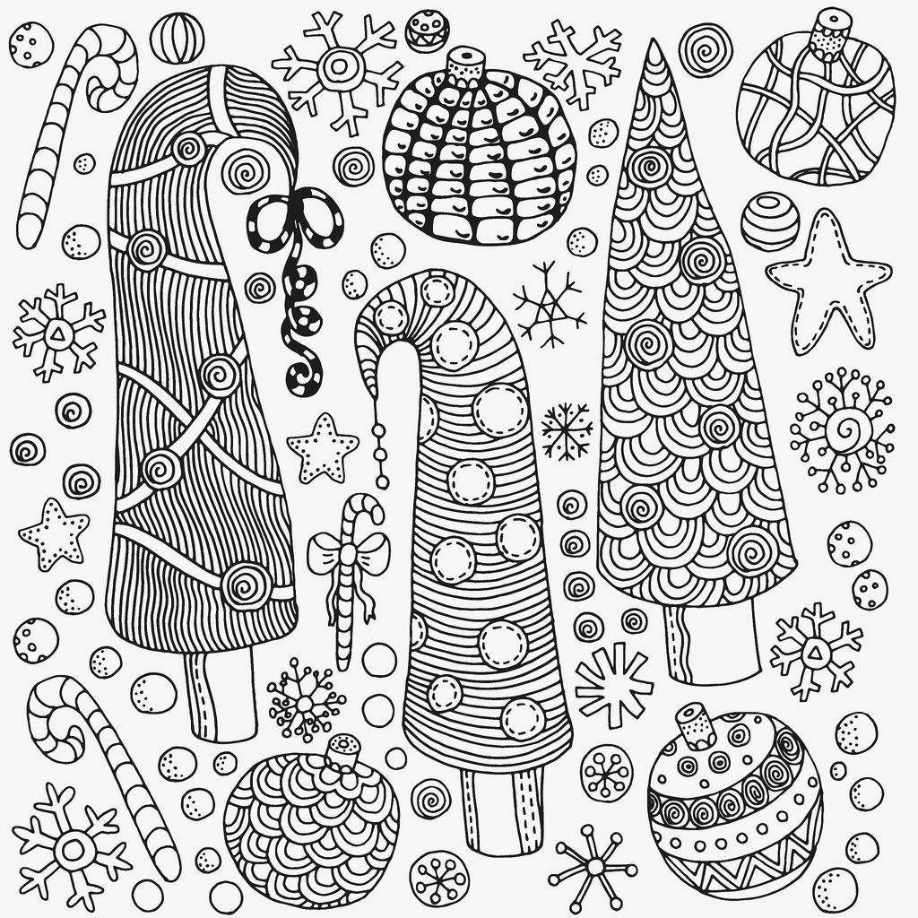 Christmas Tree Colouring Pages For Adults Coloring Page Download