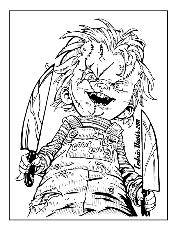 Chucky Horror Coloring Page