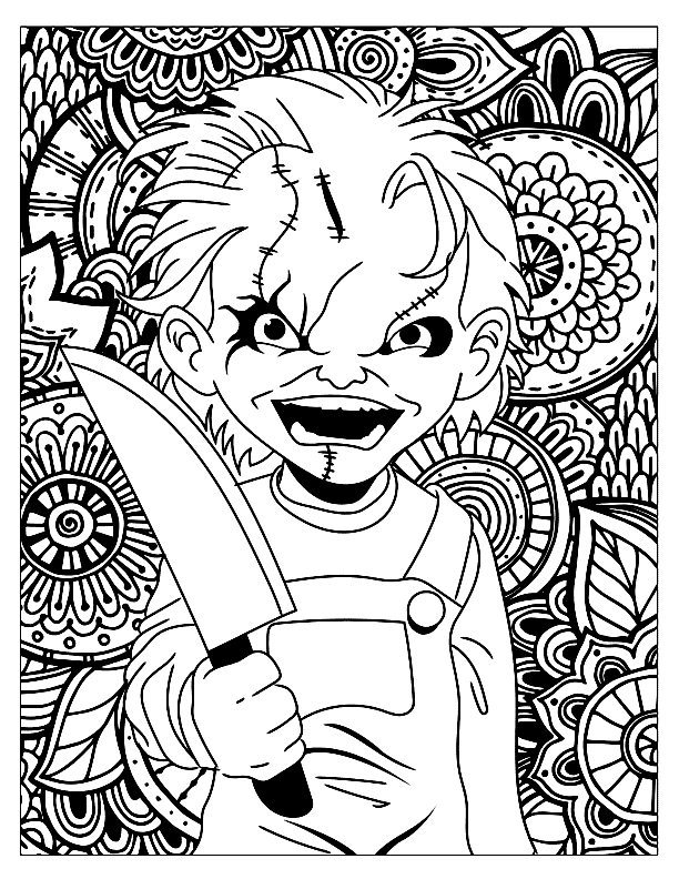 Chucky Horror Coloring Pages