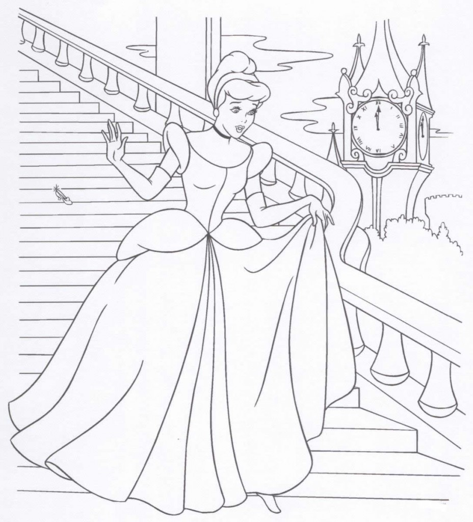 Cinderella Glass Slipper Coloring Page