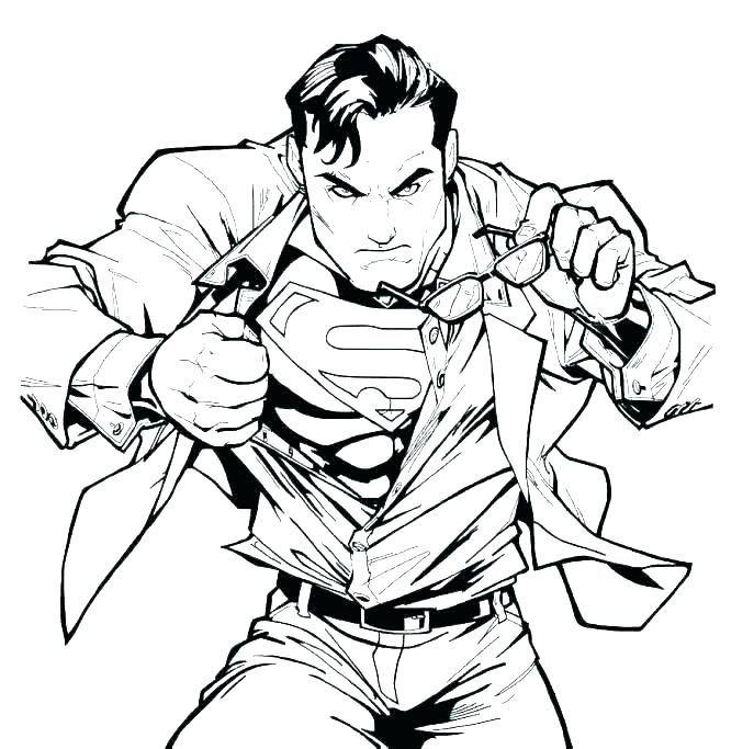 Clark Kent Superman Coloring Page