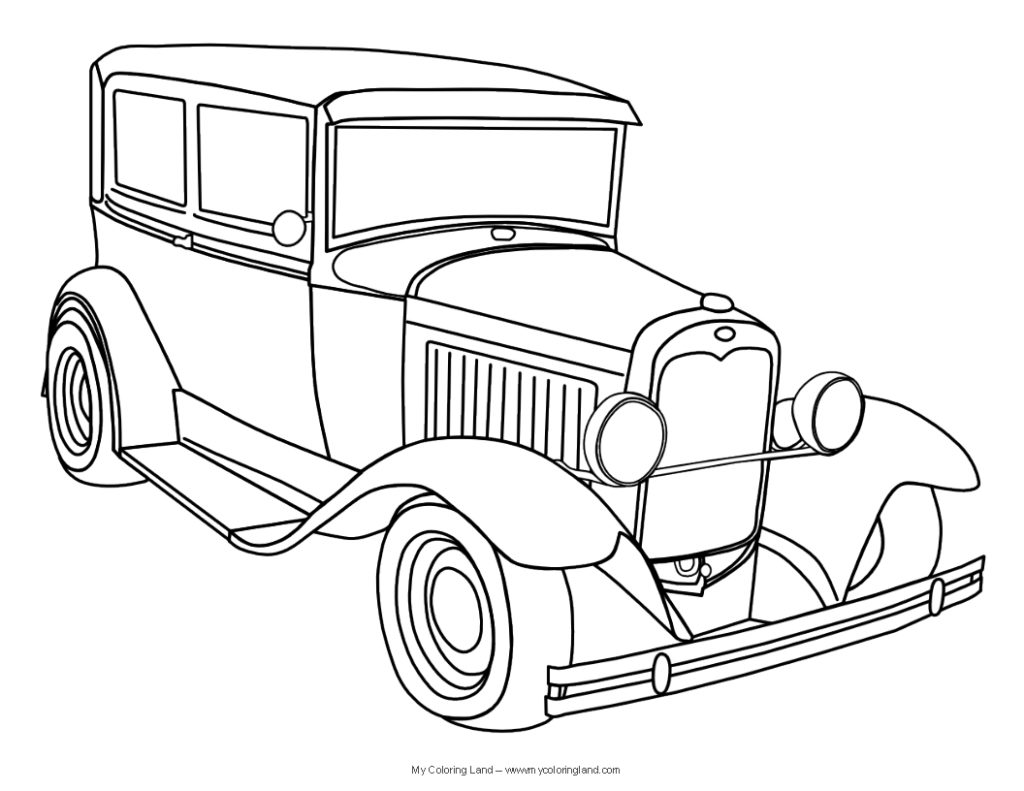 Classic Cars Coloring Page