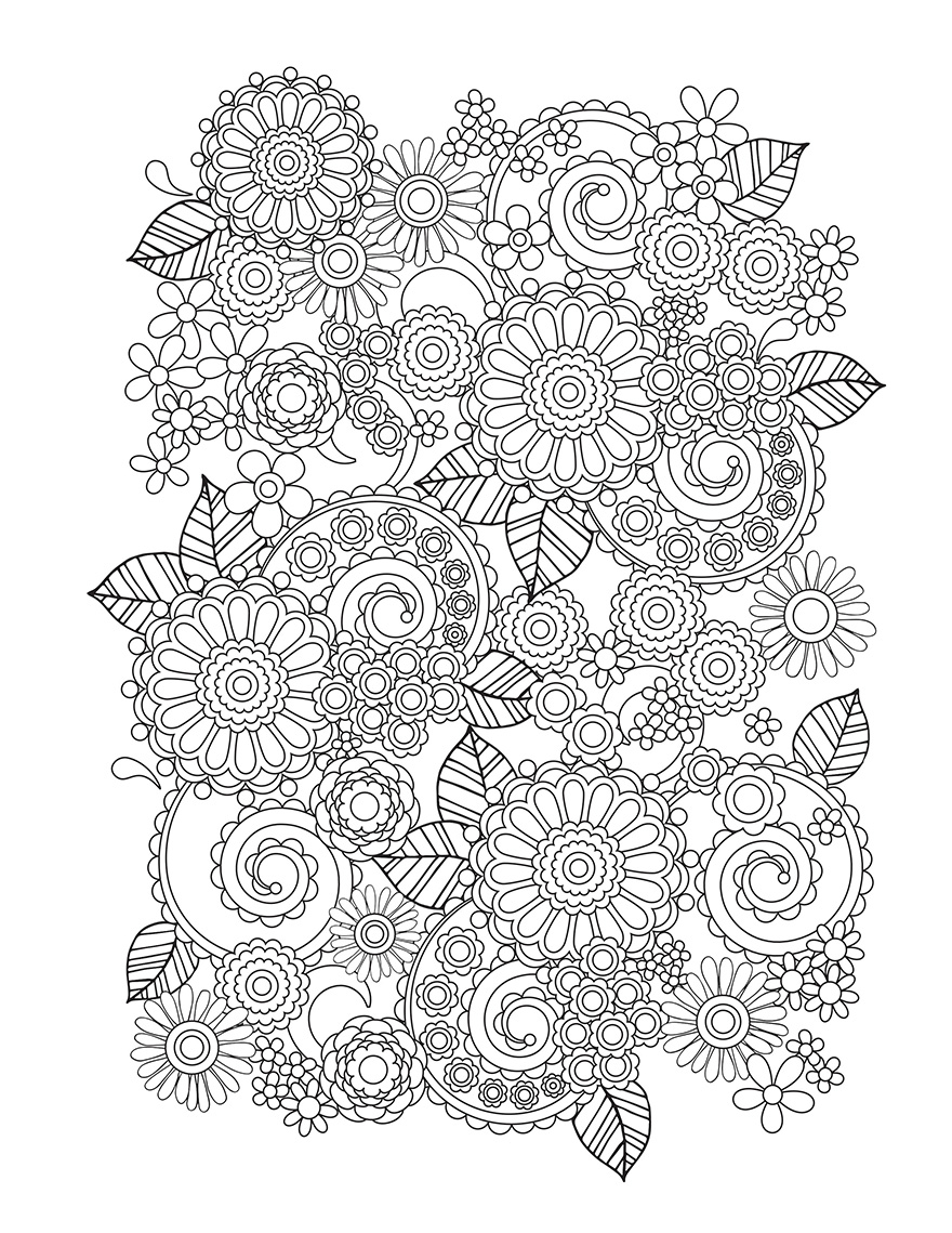 Collage Flower Coloring Pages