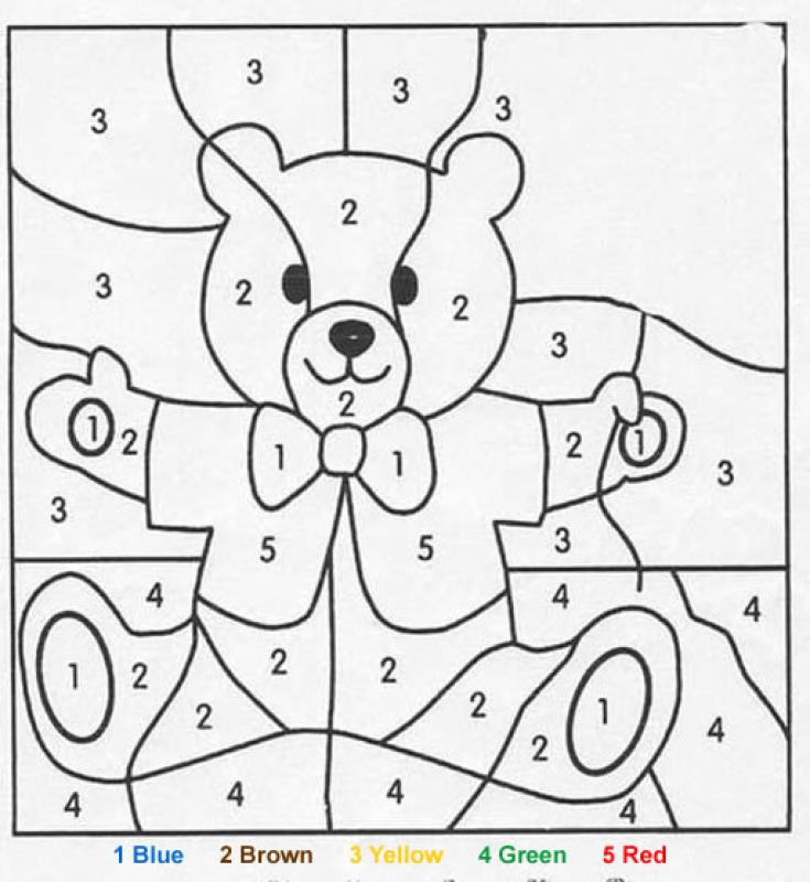 Color By Numbers - Bear