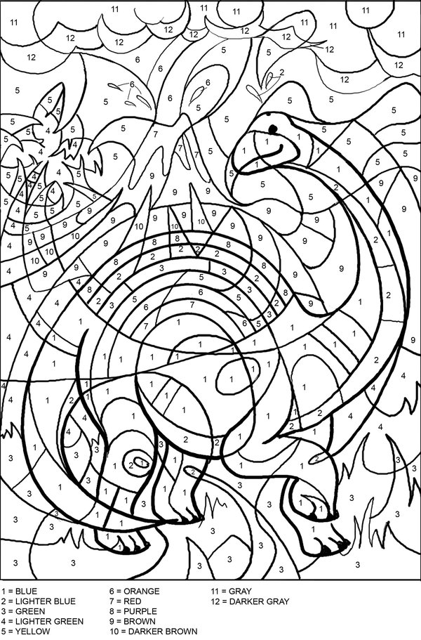 Color By Number Printables – coloring.rocks!