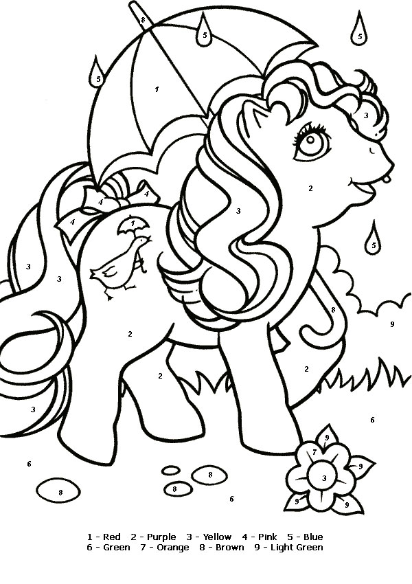 Color By Numbers - MyLittlePony Quackers
