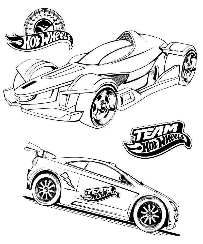 Color Hot Wheels Race Cars
