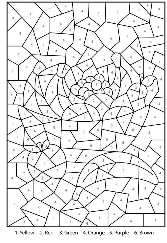 Color by Number Printables for Adults – coloring.rocks!