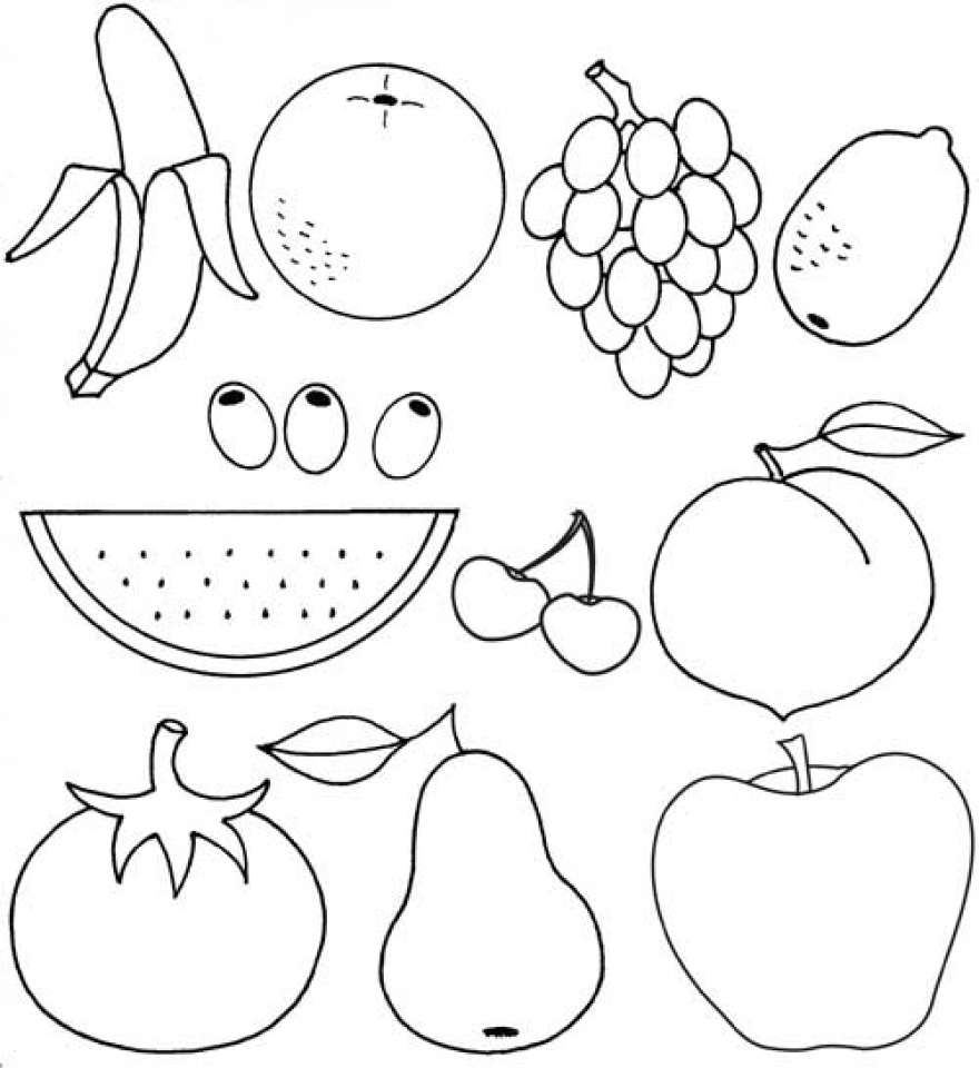 Color the Fruit Printable Sheet
