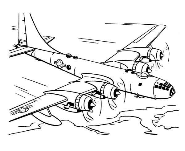 Coloring Pages for Boys Airplane