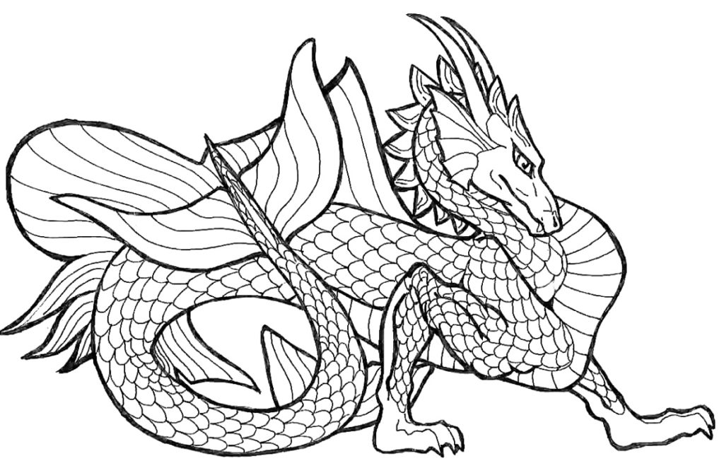 Coloring Pages for Boys Dragon