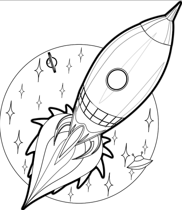 Coloring Pages for Boys Rocket