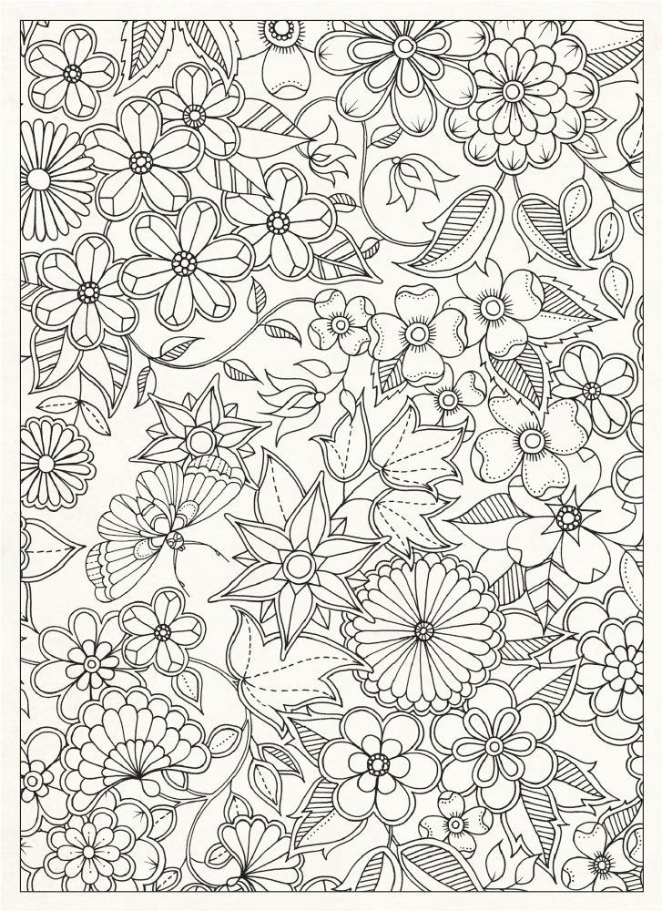 Complex Flower Design Coloring Pages for Adults