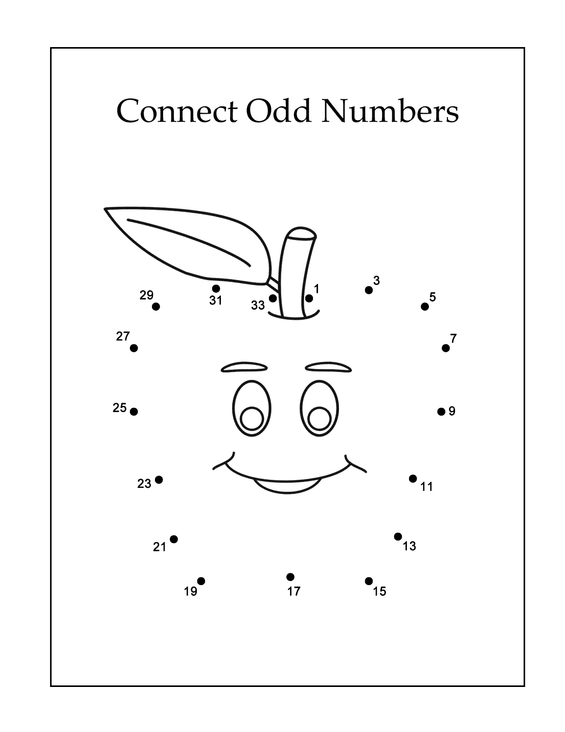 Connect Odd Numbers