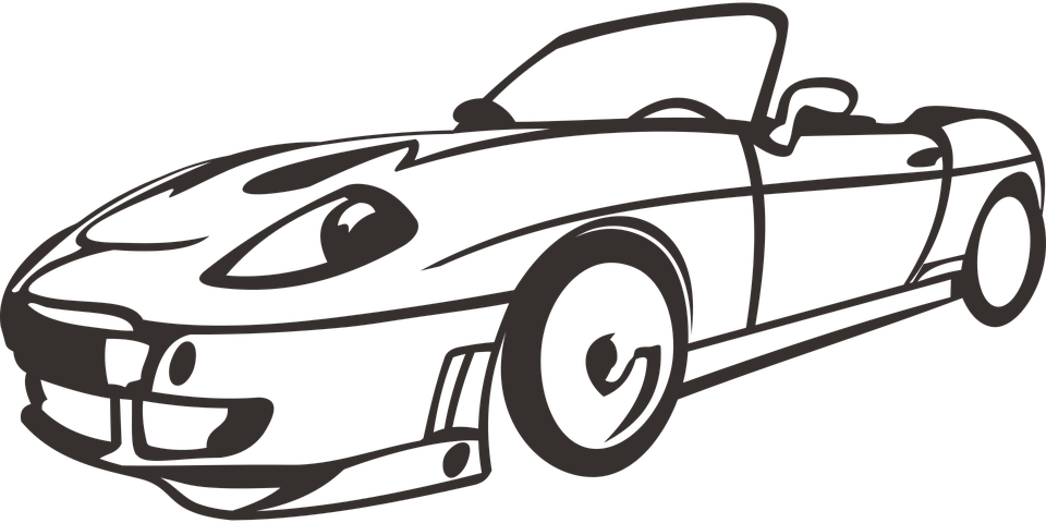 Convertible Car Coloring Pages Free