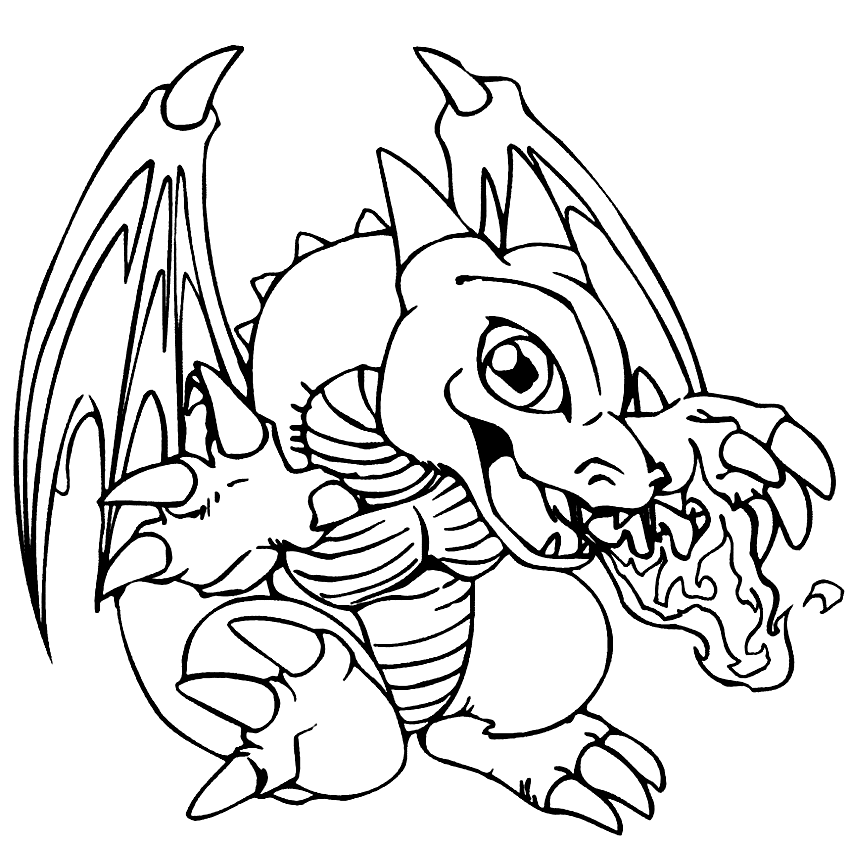 Cool Baby Dragon Coloring Page