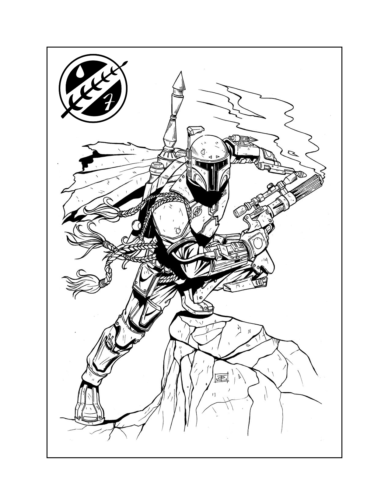 Cool Boba Fett Coloring Pages