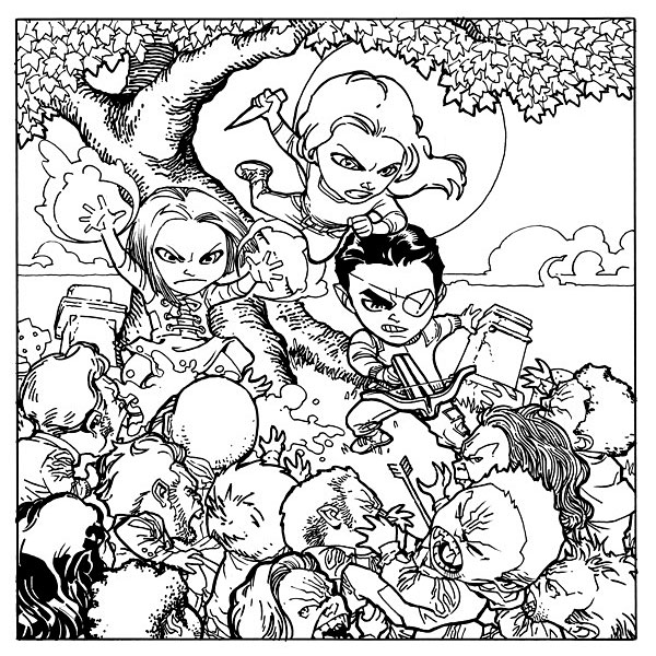 Cool Buffy Coloring Page