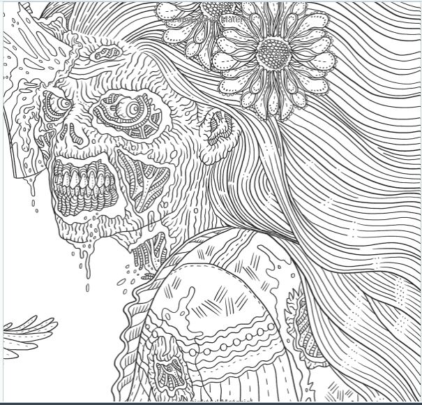 Cool Dead Lady Coloring Page