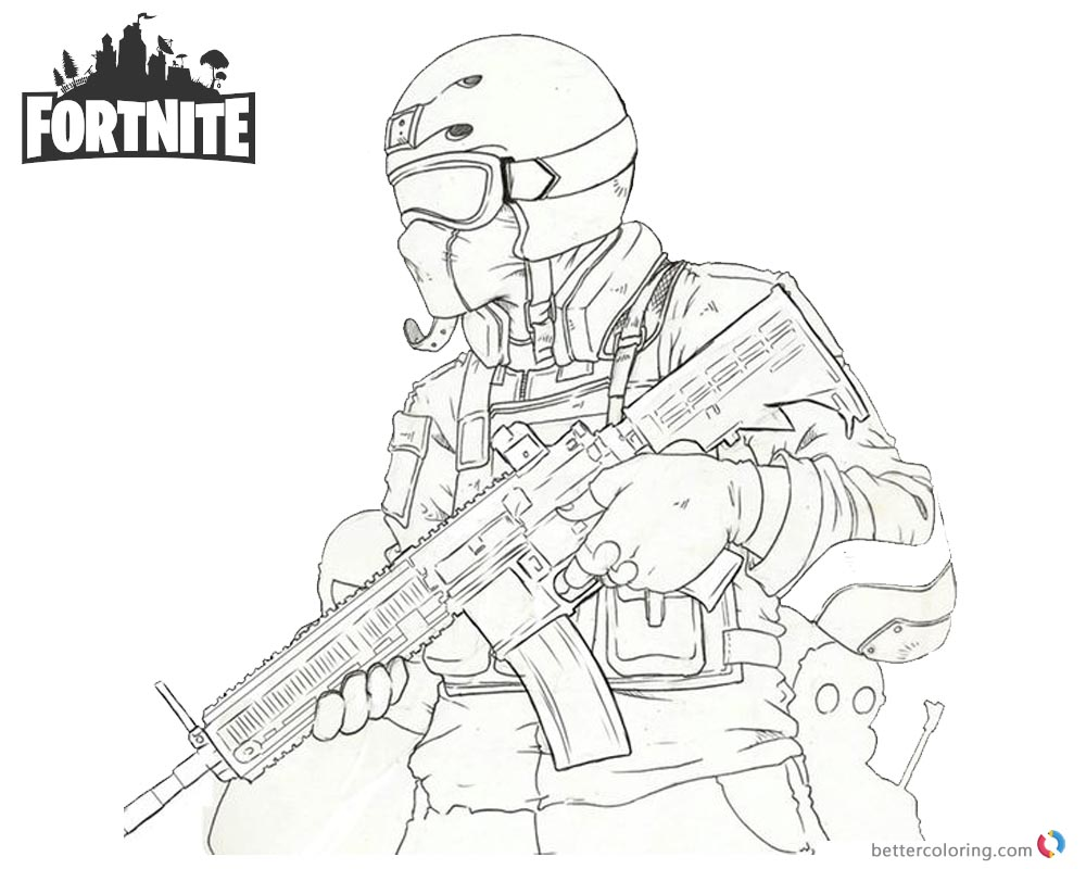 Cool Fortnite Coloring Pages
