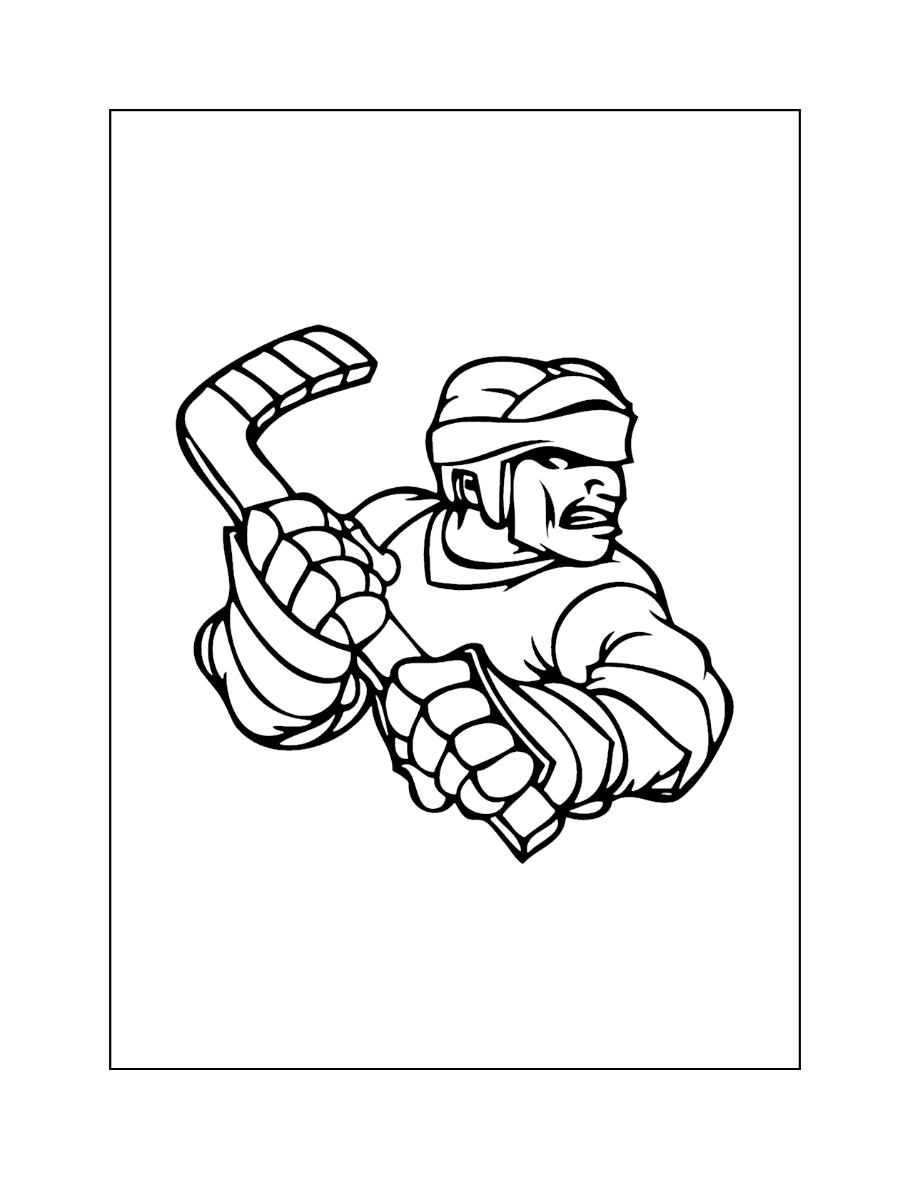 Cool Hockey Coloring Pages