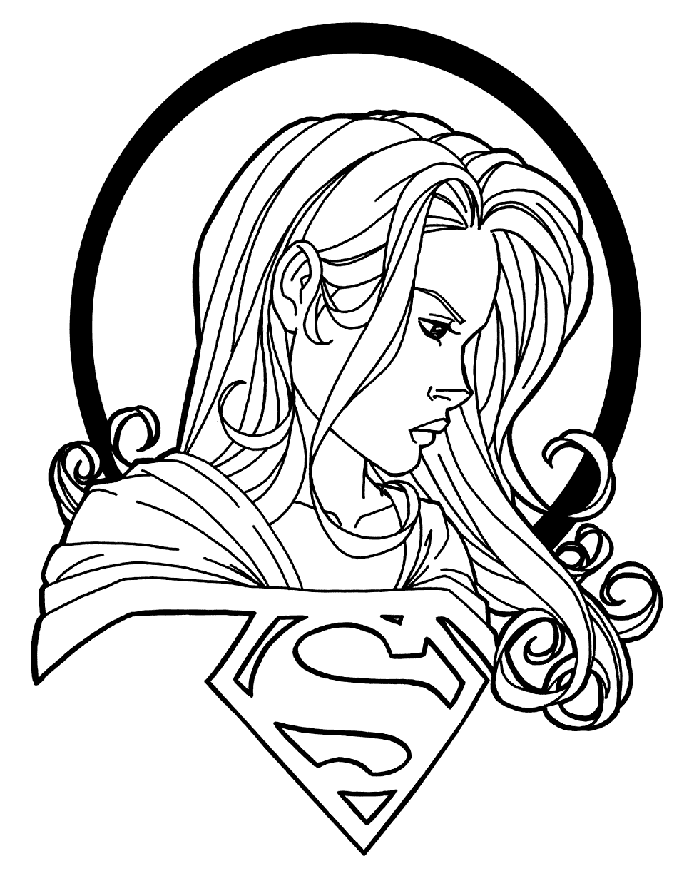 Cool Supergirl Coloring Page Coloring Rocks