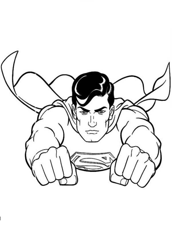 Cool Superman Coloring Page