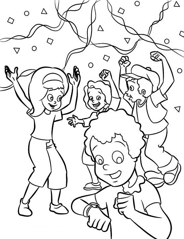 Countdown to January Coloring Page