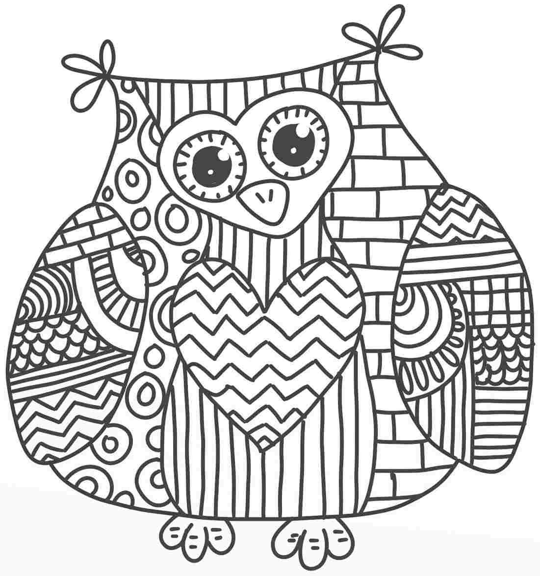 Owl Coloring Pages Coloring Rocks