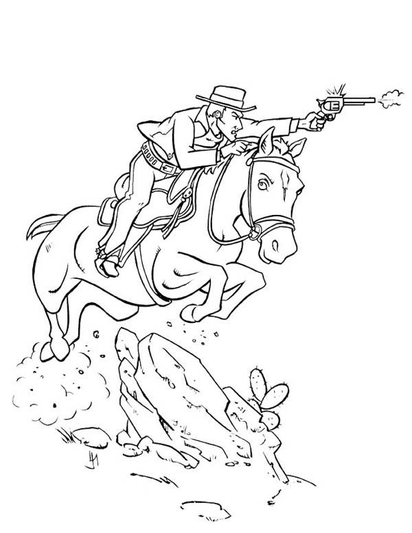 Cowboy Horse Coloring Pages
