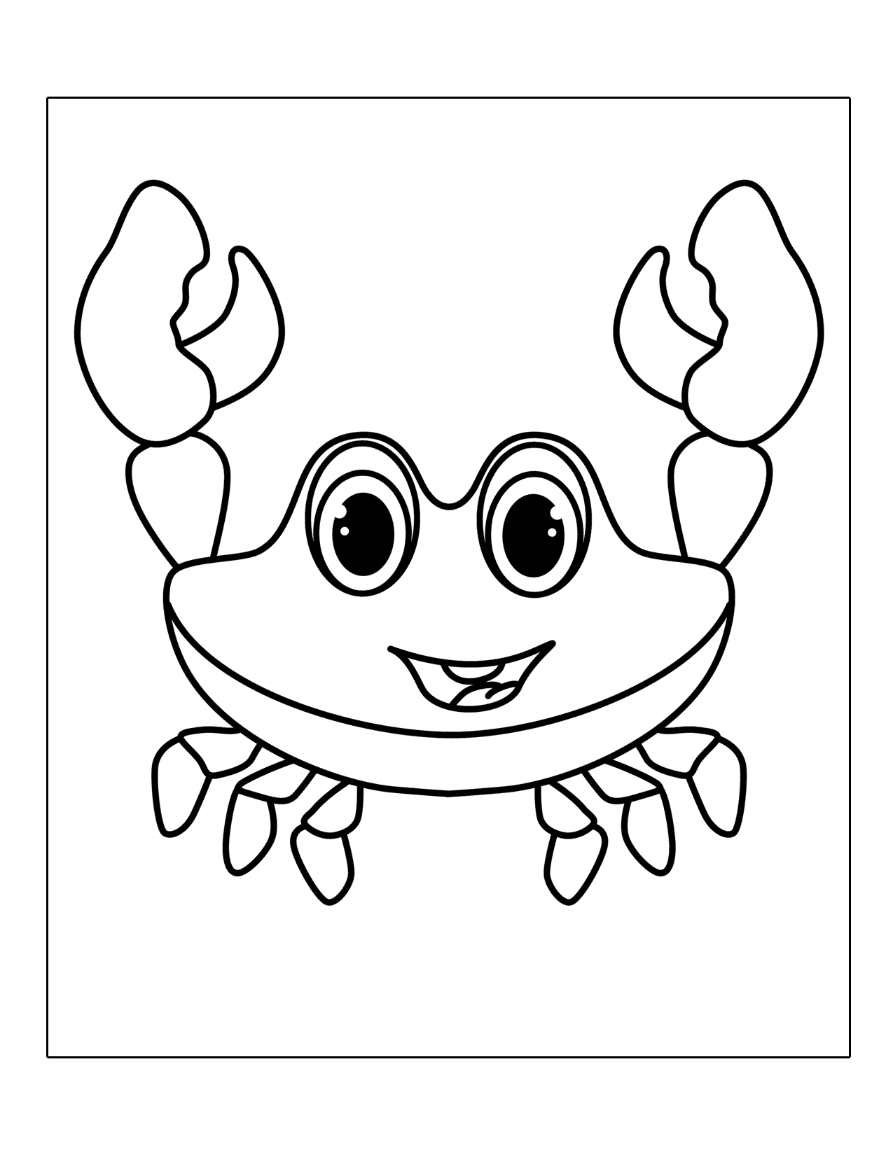 Crabs Coloring Pages